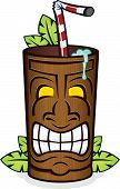 Wooden Tiki Cup