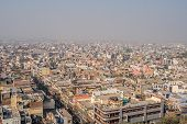 Cityscape Of Old Delhi In India. View Of The Old District Of New Delhi. Pollution And Smog In The Ai poster