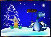 Christmas0010Dark blue dragon-New Year's a symbol of 2012