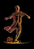 The Silhouette Of The Soccer
