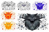 Decorative Picture Fox And Wolf. Coloring Fox And Wolf poster