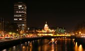 Night View Of Bridges In Dublin