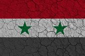 National Flag Of Syria. Syrian Civil War. poster