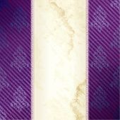 Gold and purple vertical Victorian banner