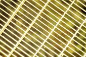 Ultra Yellow Steel Ground Lattice. Stainless Steel Texture, Background For Web Site Or Mobile Device poster