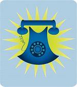 Teléfono Retro azul
