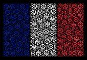 France National Flag Collage Designed Of Boat Steering Wheel Design Elements. Vector Boat Steering W poster