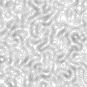 Vector Design Element. Abstract Topography Contour Map. poster