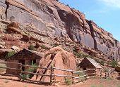 Cabina de colono en el cañón de Escalante