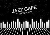 Artistic Jazz Night Background. Poster For The Jazz Festival poster