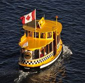 Bright Yellow Water Taxi