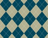 Blue And Tan Argyle