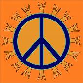 Orange Peaceful People
