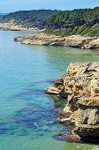 una vista de diferentes calas de Bosc de la Marquesa, Tarragona, España