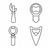Isolated Object Of Winery And Mechanical Symbol. Collection Of Winery And Uncork Vector Icon For Sto poster