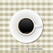 vector top view of a cup of coffee