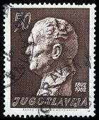 YUGOSLAVIA - CIRCA 1962: A stamp printed in Yugoslavia, is depicted Josip Broz Tito, circa 1962