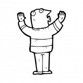 cartoon man exclaiming
