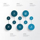 Profession Icons Line Style Set With Driver Woman, Graduate Woman, Manager And Other Pastor Elements poster