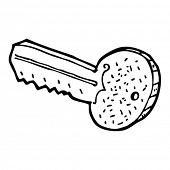 cartoon door key