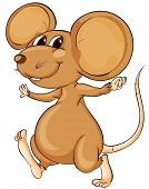 stock photo of buck teeth  - Cute cartoon mouse on white - JPG