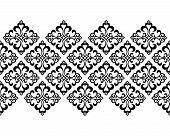 Wallpaper In The Style Of Baroque. Seamless Vector Background. White And Black Floral Ornament. Grap poster