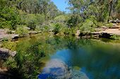 Karloo Pool Is A Popular Swimming And Picnic Spot Situated In Royal National Park At The South Of Sy poster