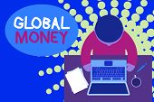Word Writing Text Global Money. Business Concept For International Finance World Currency Transacted poster