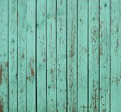 picture of wooden shack  - Close up of old green wooden fence panels - JPG