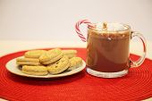 Christmas Cookies and Hot Chocolate with Marshmallows. People world wide love Hot Chocolate and Cook poster