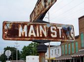 Signo de Vintage Main Street