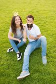 Youth Day. Princess And Hipster. Couple In Love Youth Booth Props. Emotional People. Summer Vacation poster