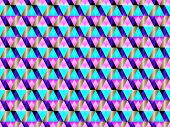 Poly Art Grid Geometric Seamless Vector Background. Hypnotic Polygons Triangles And Rhombus Geometri poster