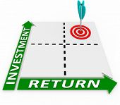 foto of maxim  - Maximize the return on your investment by increasing the amount you invest and growing the amount of your return or R - JPG