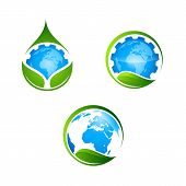 Earth Planet Vector Global World Universe And Worldwide Earthly Universal Globe Emoticon Illustratio poster