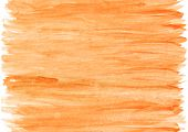 Seamless Orange Watercolor Background. Careless Strokes And Stains Of Paint Can Continue Infinitely  poster