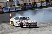 KUALA LUMPUR - MAY 19: Singapore's Ivan Lim makes a practice run during the Formula Drift 2012 Asia