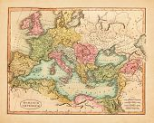 Vintage old map of Europe published in 1811 poster