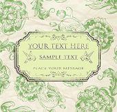 vintage card design for greeting card, invitation, menu, etc 2