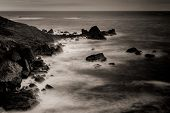Long Exposure Of The Ocean From Rocky Point, Patricks Point State Park, Northern California, Usa, Lo poster