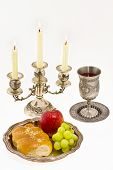 Cup Fruits And Candlestick