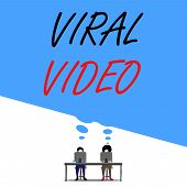 Text Sign Showing Viral Video. Conceptual Photo The Video That Becomes Popular Through Internet Shar poster