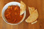 Chicken Tikka Curry with Naan Bread