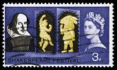 Britain William Shakespeare Postage Stamp