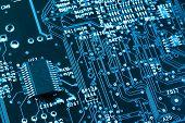Closeup de placa de circuito de computador