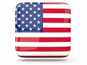 Square Icon Of United States Of America