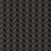 stock photo of aztec  - Aztec Chevron dark vector seamless pattern - JPG