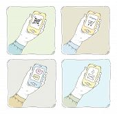 Using Smartphone Illustration Set