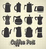 Vector Set: Vintage Coffee Pot Silhouettes