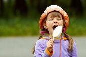 Girl Bitten By Ice Cream